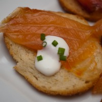 Cured salmon hors d'oeuvre