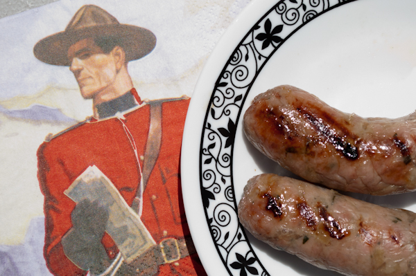 Canadian sausage for Canada Day - 277.0KB